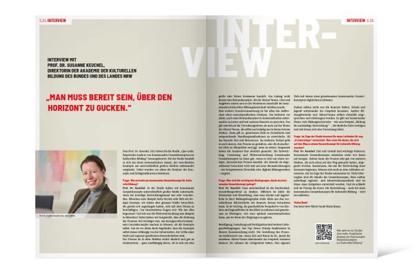 Arbeitsstelle kulturelle Bildung NRW | Themenheft Doppelseite