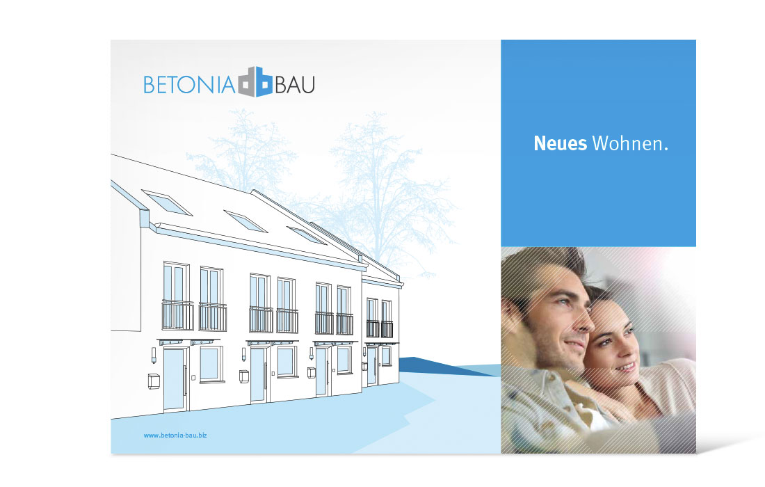 Betonia Bau | Imagebroschüre Titel