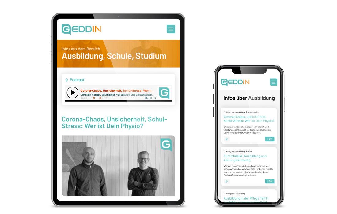 GEDDIN | Webseite