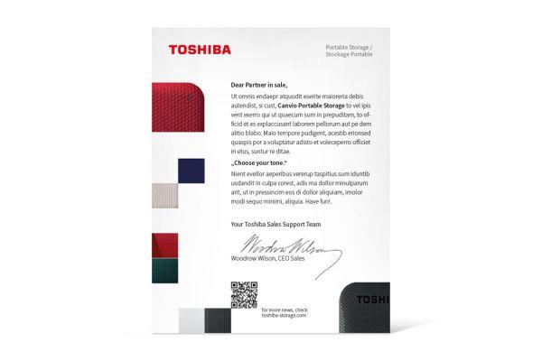 Toshiba | Salespartner Package – Anschreiben
