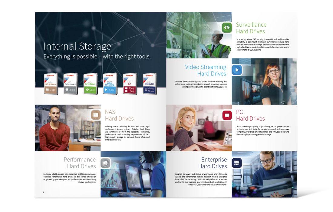 Toshiba | Katalog Storage 2019 Doppelseite