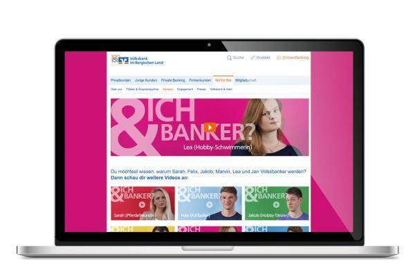 Volksbank Azubi-Kampage | Landingpage